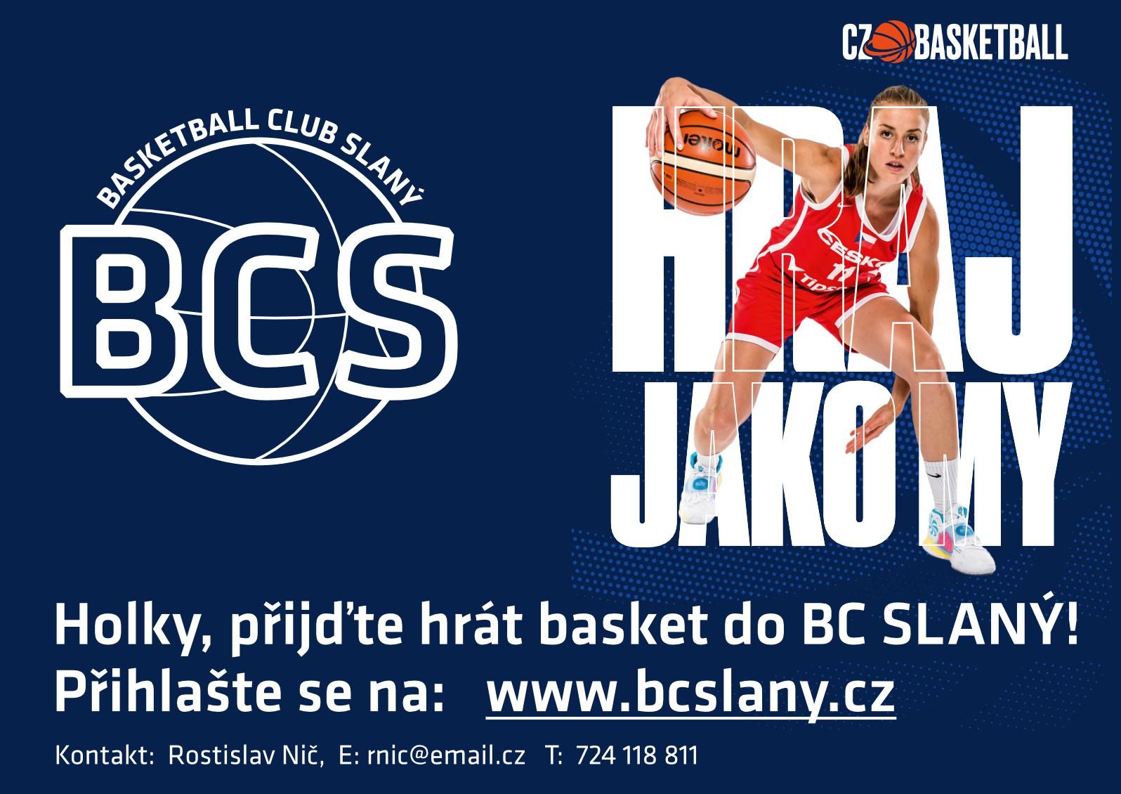 Hraj jako my, přijďte hrát basket do BC Slaný!